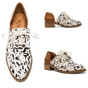 Matisse Quake Oxford Shoes Leather Cow Hair 10 M